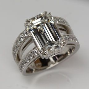 Emerald Cut Engagement Ring by Oliver Smith Jeweler.