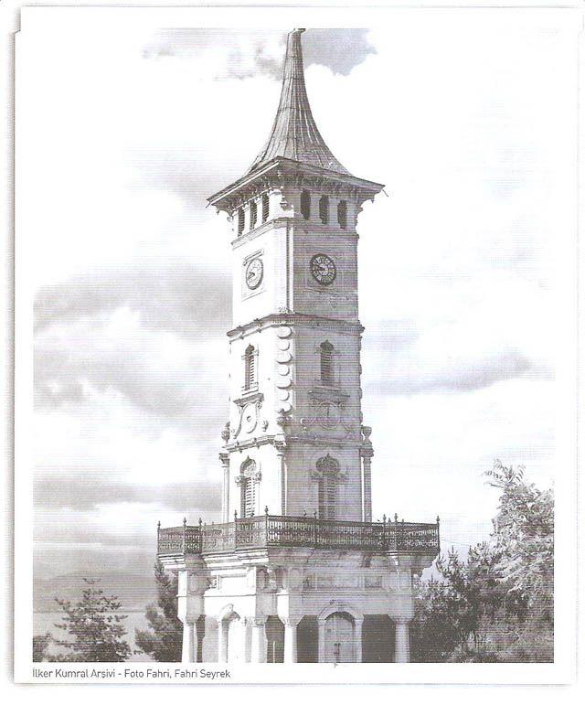 1901 İZMİT- Mimar: Vedat TEK / I.Ulusal Mimarlık Akımı. Sultan II. Abdülhamit'in tahta çıkışının 25. yıldönümü nedeniyle İzmit mutasarrıflığı denetiminde İzmit Belediyesi tarafından yaptırılmıştır.