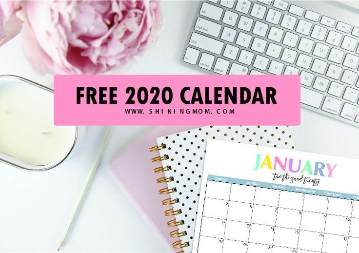 Free Printable 2020 Calendar So Beautiful Amp Colorful