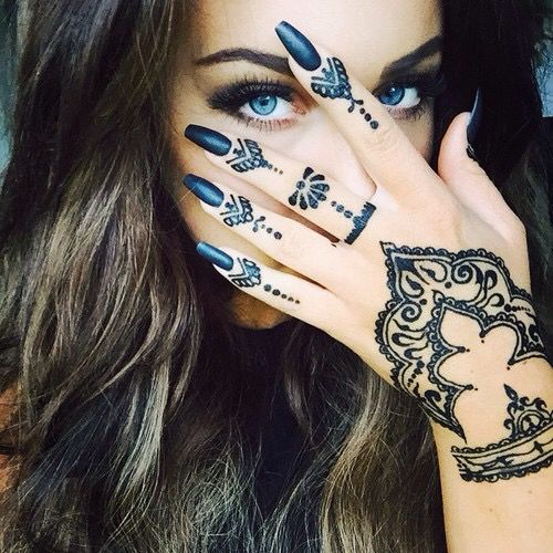 This is not actual henna, but i love the design of the tattoos !