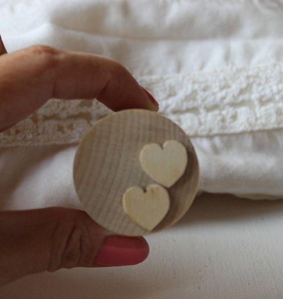 Proposal ring box / small round wooden box / wedding by NeliStudio