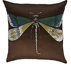 Libellula & Malachite Pillow