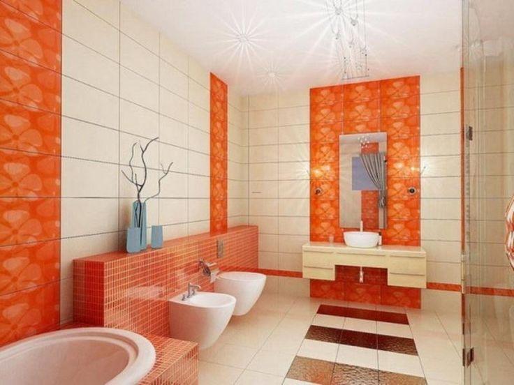 Amazing Bathroom Tiling Design with Orange Ideas78 best Orange Bathrooms images on Pinterest   Orange bathrooms  . Orange Bathroom Tile Ideas. Home Design Ideas