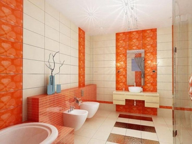 17 Best images about Orange Bathrooms on Pinterest | Tile ...