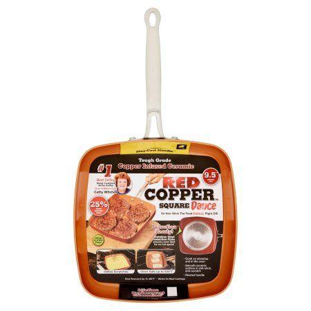 Red Copper Square Dance 9.5 inch Square Pan, Bronze