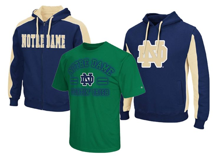 Colosseum Notre Dame Men's Big and Tall Hoodies and Tee Shirts