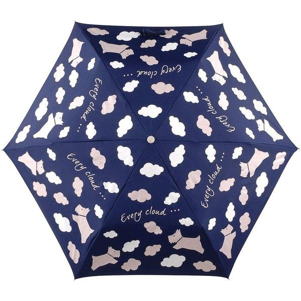 Radley Radley Every Cloud Mini Telescopic Umbrella ($28) ❤ liked on Polyvore featuring accessories, umbrellas, radley, radley umbrella and mini umbrella
