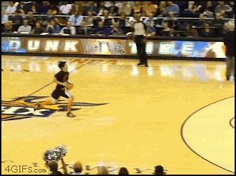 Epic dunk fail turns out to be epic dunk win.