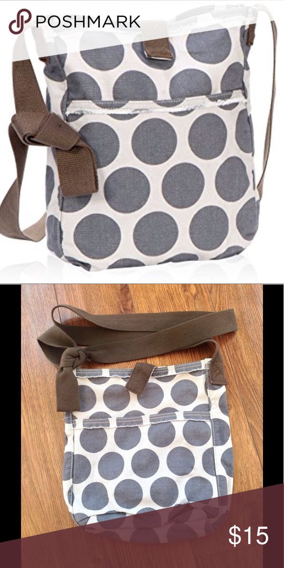 Thirty one retro metro crossbody  purse Thirty one retro retro metro crossbody purse in grey mod dot brand new thirty one Bags Crossbody Bags
