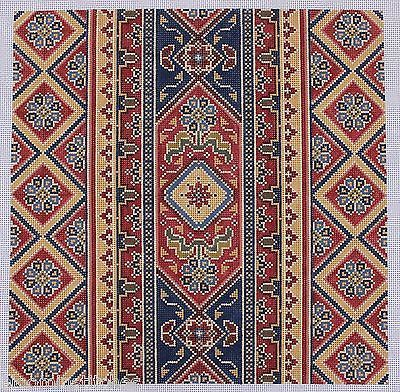 CanvasWorks PO93A Bakhtiari Hand Painted Needlepoint Canvas