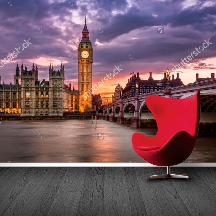 Fotobehang Big Ben | Maak het jezelf eenvoudig en bestel fotobehang voorzien van een lijmlaag bij YouPri om zo gemakkelijk jouw woonruimte een nieuwe stijl te geven. Voor het behangen heb je alleen water nodig!   #behang #fotobehang #print #opdruk #afbeelding #diy #behangen #bigben #engeland #grootbrittannie #brexit #london #londen #wereldstad #stad