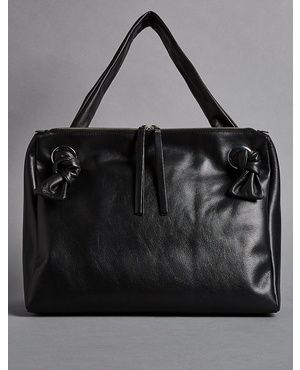 Leather Eyelet Tote Bag by Marks and Spencer - Autograph