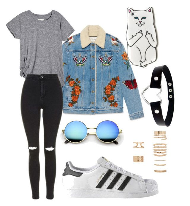 """Дерзкий стиль."" by vincecarter on Polyvore featuring Gucci, Topshop, adidas and Forever 21"