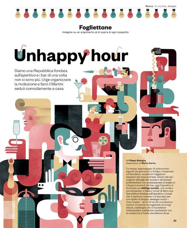 Editorial Illustrations by Maria Corte Maidagan