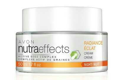 #AVON Nutraeffects Radiance  Night Cream   The Radiance Collection is formulated to help boost energy production and cell renewal, helping bring new skin to the surface.  NutraEffects Radiance Night Cream is a non-oily hydrating night cream that works while you sleep to help renew skin's radiance, creating a natural, radiance, and even complexion while leaving skin looking and feeling moisturized. 1.7 fl. oz.  * This product is Gluten Free. • Free of parabens, phthalates and dyes •…