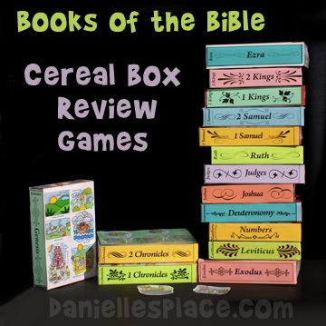 Books of the Bible Cereal Box Review Games for Sunday School from www.daniellesplace.com