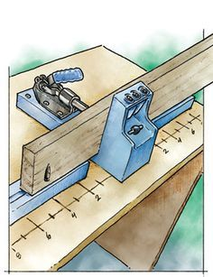 Measuring Pocket Screw Joints on a Kreg Tools Jig Mounting Board