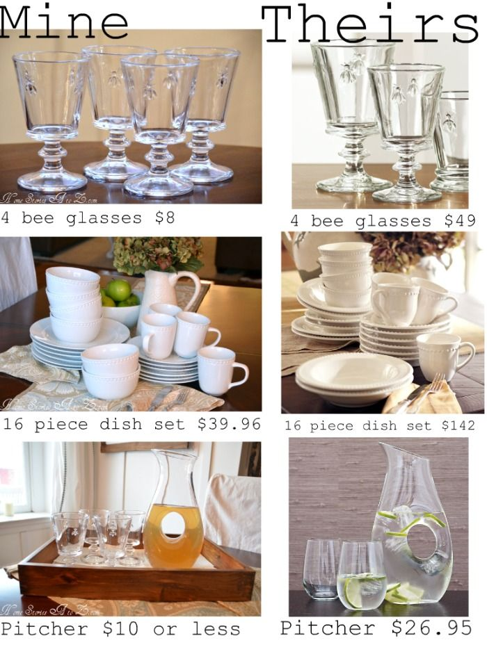 Dinnerware Doppelganger! How to find look alike dishes for Ballards, Pottery Barn, Crate & Barrel, etc.