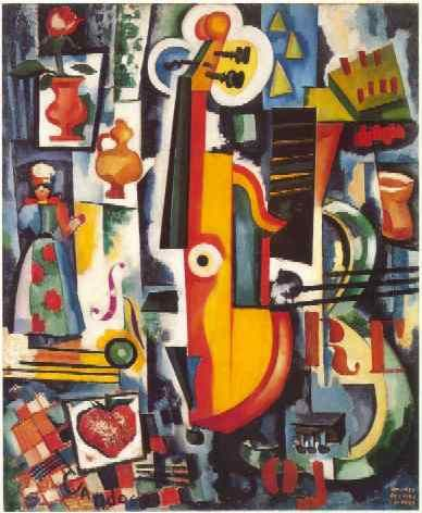 Title unknown by Amadeo de Souza Cardoso. Stunning.