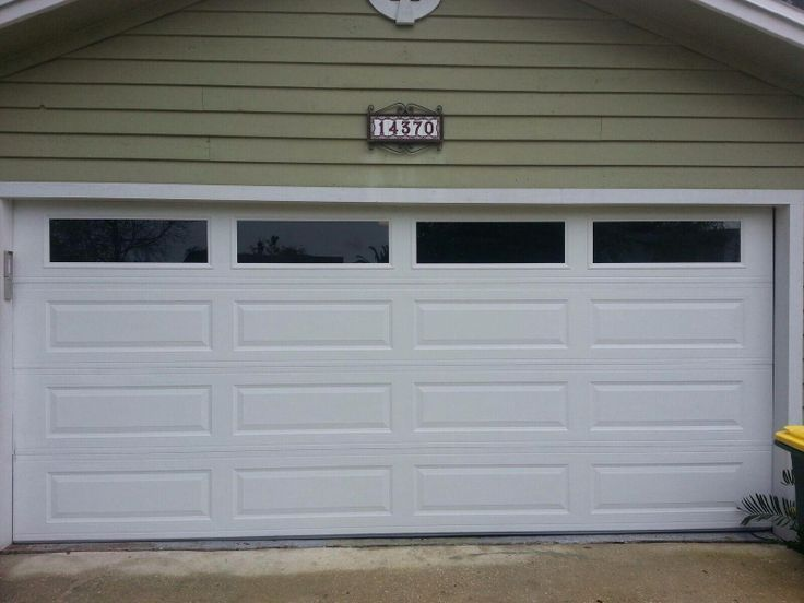 Amarr Long Panel Garage Door With Solid Windows Gives This Home In  Jacksonville A More Modern Look