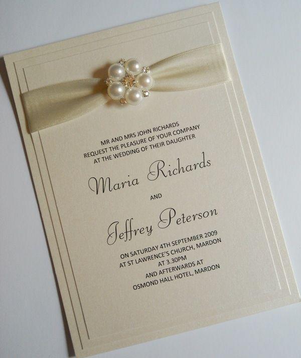 best 10+ ivory wedding invitations ideas on pinterest | elegant, Wedding invitations