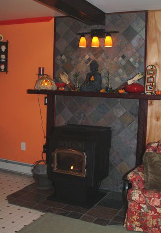 39 Best Images About Pellet Stove Mantle On Pinterest