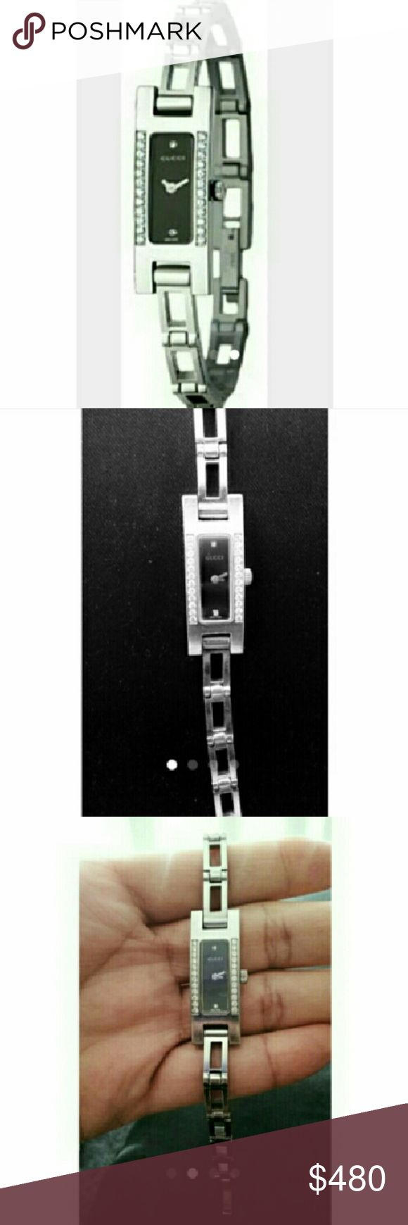 GUCCI WATCH DIAMOND MOTHER PEARL Women Gucci Watch Diamond Mother Pearl. Excellent condition-Gently used. Swiss Quartz  movement. Water resistant-stainless steel. REF:3900L Battery dead (No box) Bracelet dimensions:7 inchs long x 6mm wide. ***Firm Price**