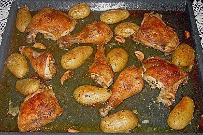 Huhn mit Rosmarin und Knoblauch