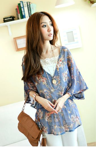 Baju Import Blouse BL1402-Blue