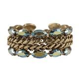 Metalic chain bracelet with Swarovski crystals by www.fashioncrack.gr