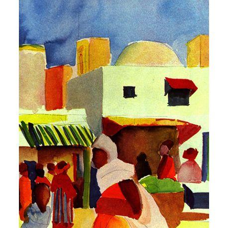 Market in Algiers - August Macke - reprodukcje na płótnie - Fedkolor