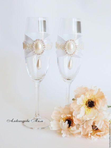 Купить или заказать Свадебные бокалы 'Bride 2' в интернет-магазине на Ярмарке…