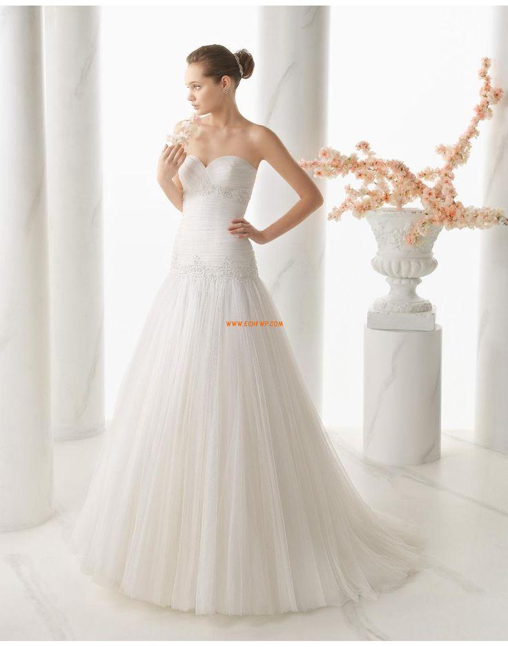 Balayage / pinceau train Tulle Lacets Robes de mariée 2015