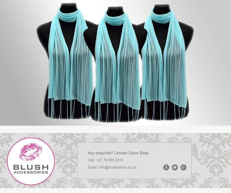 A summer scarf is a girl's best friend when it comes to changing up an outfit! So get down to your nearest #Blush as we stock many scarves, in different styles, colours and prints. #scarves #fashion