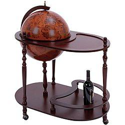 Sixth Century Replica Italian Style World Globe Bar