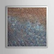 Abstract Weak Signal Framed Oil Painting – AUD $ 106.24
