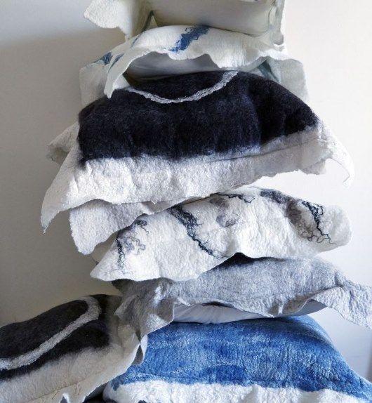 Grace Wood Designs - Felt Cushions - Interior Design Magazines - Real Living April 2015 - designlibrary.com.au