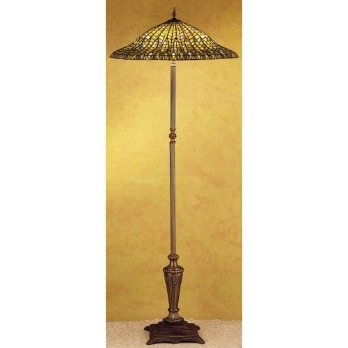 Meyda Tiffany 30994 Stained Glass / Tiffany Floor Lamp from the Lotus Leaf Collection