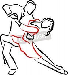 Um casal dançando um tango apaixonadamente em um show nas imagens da myloview. Da melhor qualidade fotomurais,…