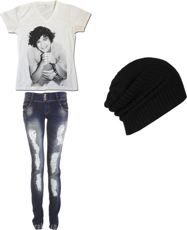"""one direction outfit"" by brianna-babygirl ❤ liked on Polyvore"
