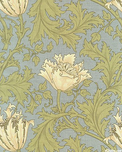 Morris & Company - Wildwood Flower - Denim Blue