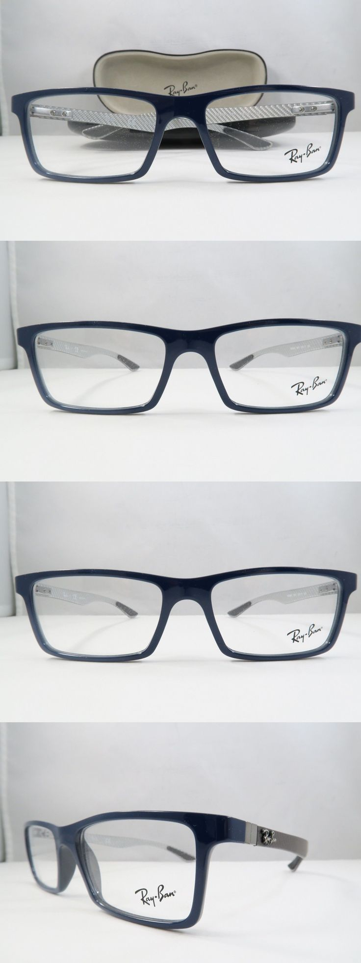Eyeglass Frames: Ray-Ban Rb 8901 5611 Shiny Blue Carbon Fibre New Authentic Eyeglasses 53Mm Case -> BUY IT NOW ONLY: $77.34 on eBay!