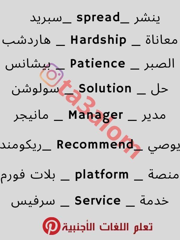 تعلم اللغة الإنجليزية من الصفر Learn English Words English Phrases English Writing Skills