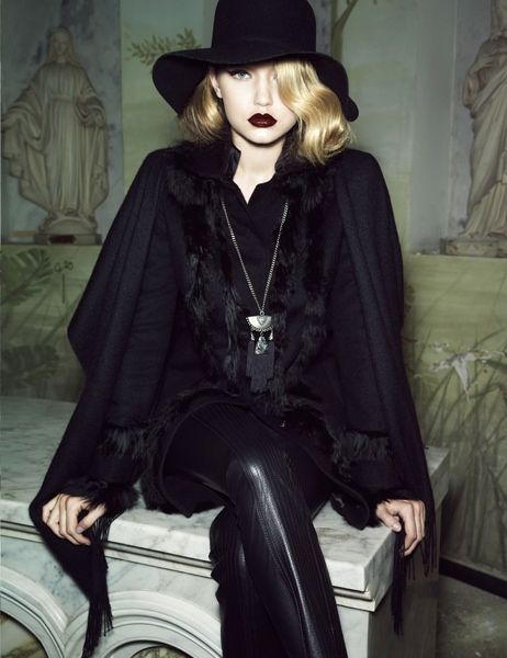 Gigi Hadid Stars in the New Lita Mortari Fall 2014 Campaign #gothic #fashion trendhunter.com