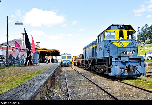 Vintage trains and weekend excursions in Daylesford, Central Victoria, Australia