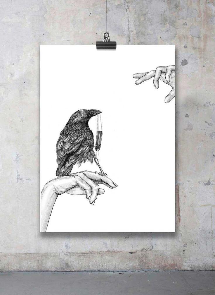 Den tjuvaktiga kråkan via Mia Valgren Illustration. Click on the image to see more!