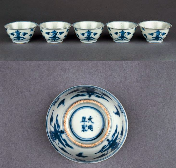 Ming Dynasty And Transitional Period Chinese Porcelains With Feet Di 2020 Antik Kayu