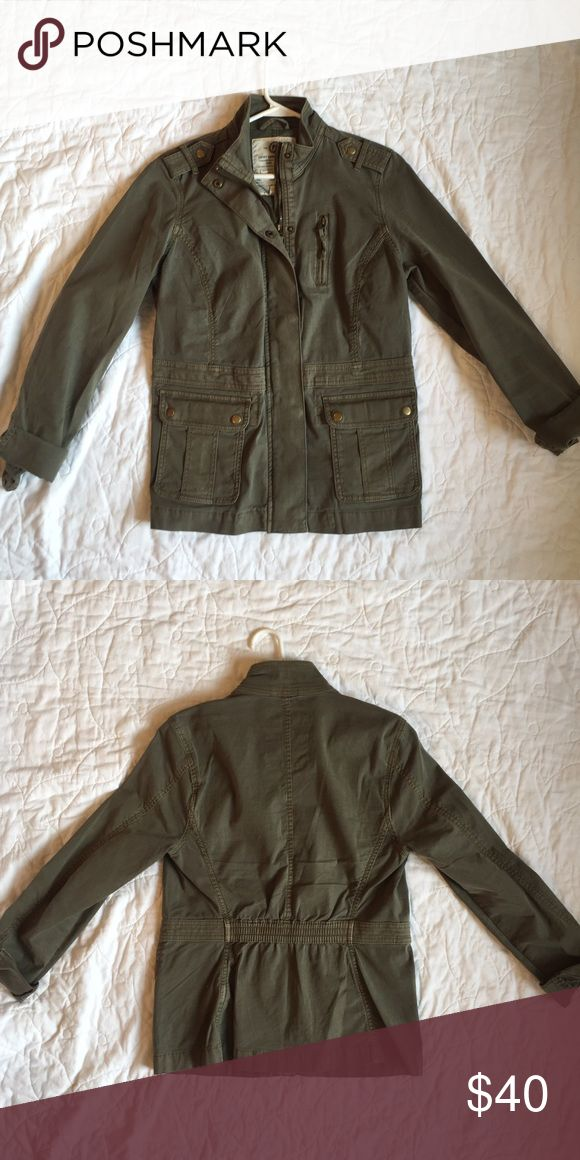 Military jacket Lucky Brand green military jacket. Size medium, worn once or twice. Very good/like new condition. Lucky Brand Jackets & Coats Utility Jackets