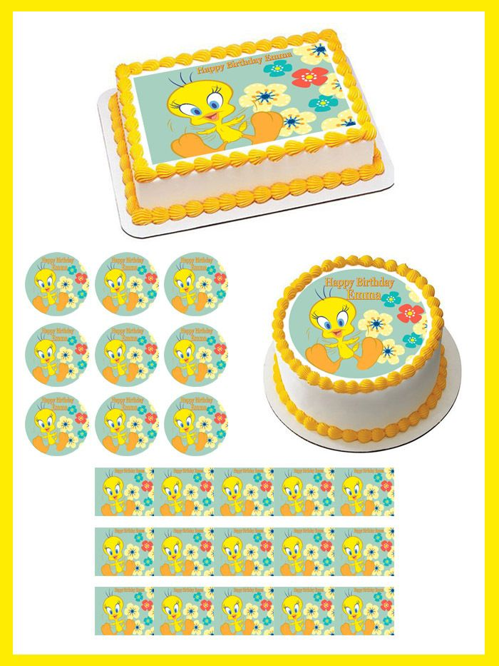 Tweety Bird Edible Birthday Cake Topper
