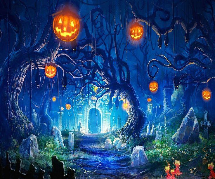 Cartoon graveyard Halloween! Pinterest